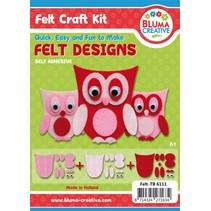 Complete Bastelset for Children: Pretty Felt Owls