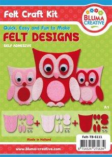 Kinder Bastelsets / Kids Craft Kits Completar Bastelset para niños: Búhos Pretty fieltro