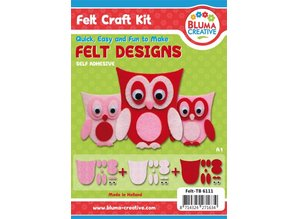 Kinder Bastelsets / Kids Craft Kits Búhos Pretty fieltro: Niños Craft Kit