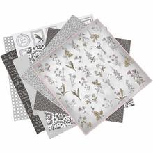 DESIGNER BLÖCKE  / DESIGNER PAPER 1 pakke med 6 forskellige stilarter, ark 30,5 x 30,5 cm