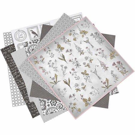 DESIGNER BLÖCKE  / DESIGNER PAPER 1 pak van 6 verschillende stijlen, blad 30.5 x 30.5 cm