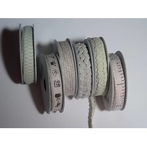 6 Dekobänder, 3-10 mm x 1,8 m, Sortiment mit 6 sort. Design, hellrot