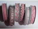 DEKOBAND / RIBBONS / RUBANS ... 6 Cintas, 3-10 mm x 1,8 m, rango de 6 asstd. Diseño, rojo