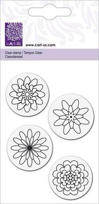 """Cart-Us Klare frimærker, """"blomster"""""""