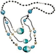 Schmuck Gestalten / Jewellery art Gioielli Craft Kit Trend Line Ocean, materiale benzina-nero per una catena.