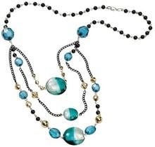 Schmuck Gestalten / Jewellery art Schmuck Bastelset Trendline Ocean, petrol-schwarz, Material für eine Kette.