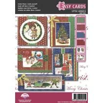 Pergamano Kit Artigianato, Vittoriani, angeli, alla progettazione di attraente, 4 carte per il Natale.