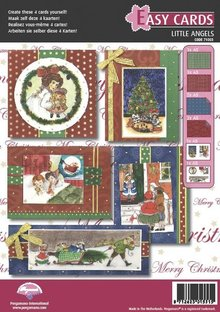 PERGAMENT TECHNIK / PARCHMENT ART Pergamano Craft Kit, victorianere, engle, til design af attraktive, 4 kort til jul.