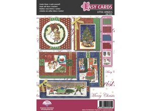 PERGAMENT TECHNIK / PARCHMENT ART Bastelset Pergamano, Viktorian, Engel, zur Gestaltung von hübsche 4 Karten zur Weihnachten.