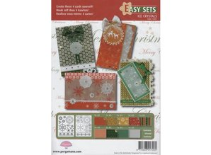 DECOUPAGE AND ACCESSOIRES Bastelset Pergamano EasyCards 9 ice crystals, for 4 tickets.