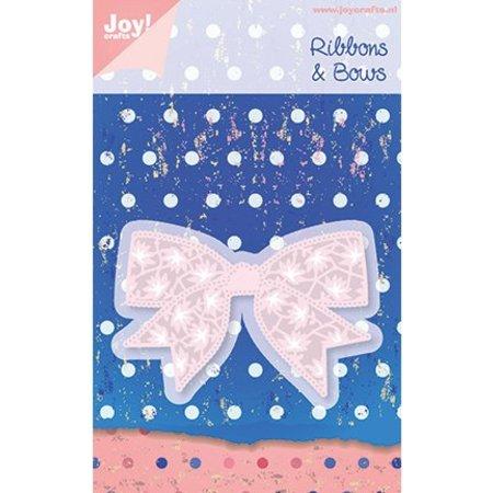 Joy!Crafts und JM Creation Joy Crafts, presning og prægning skabelon 6002 0183, Bånd & Bows, 80,5 x 54 mm