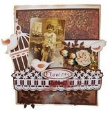 Joy!Crafts und JM Creation Joy Crafts, Cutting, Embossing & Embroidery Shablone, 6002 1102, Blumen Bordüre, 126,5 x 33,5mm