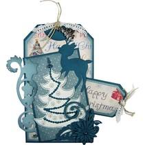 Joy Crafts, stansning og prægning & Embroideryschablone, 6002 2008, juletræ
