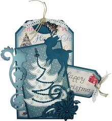 Joy!Crafts und JM Creation Gioia Artigianato, punzonatura e goffratura & Embroideryschablone, 6002 2008, Albero di natale