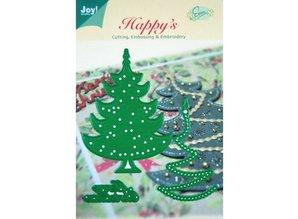 Joy!Crafts und JM Creation Joy manualidades, punzonado y relieve y Embroideryschablone, 6002 2008, del árbol de navidad