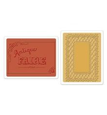 Sizzix Embossingsfolder, Antique Fair & Lace freno, cartella 2 per set