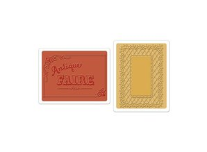 Sizzix Sizzix, Embossingsfolder, Antique Fair & Lace freno, cartella 2 per set