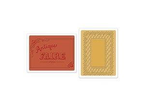 Sizzix Sizzix, Embossingsfolder, Antique Fair & Lace Set, Mappe 2 pr sæt