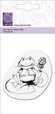 """Cart-Us Clear stamps, """"Frog with flower"""""""