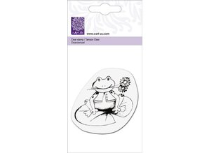 "Cart-Us Clear stamps, ""Frog with flower"""