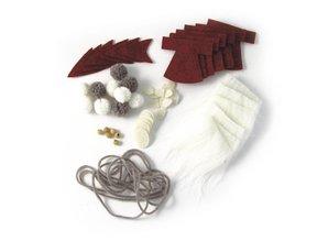 Komplett Sets / Kits Bastelpackung Babbo ghirlanda, 100 cm, contenitore di PVC