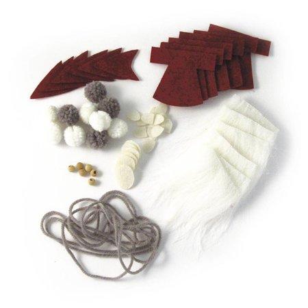 Komplett Sets / Kits Bastelpackung Santa garland, 100 cm, PVC box
