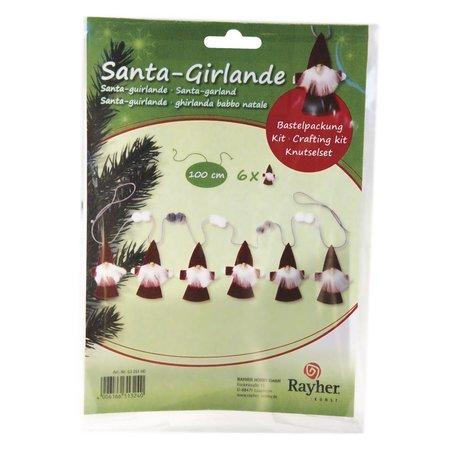 Komplett Sets / Kits Bastelpackung: Santa-Girlande, 100 cm, PVC-Box