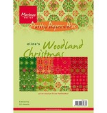 DESIGNER BLÖCKE  / DESIGNER PAPER Marianne Design, Eline's Woodland Christmas, Pretty Papers A5, 8 Designs, 32 Blatt