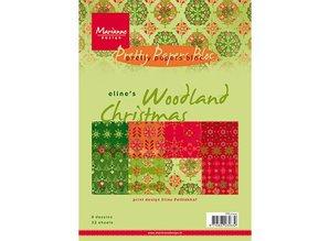 DESIGNER BLÖCKE  / DESIGNER PAPER Marianne Design Elines Woodland jul, PrettyPapers A5, 8 designs 32 ark
