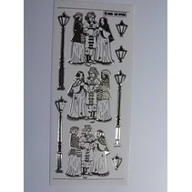 Ziersticker, sehr detailliert geprägt, 10 x 23cm.