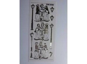 Sticker Decorative sticker, embossed in great detail, 10 x 23cm.