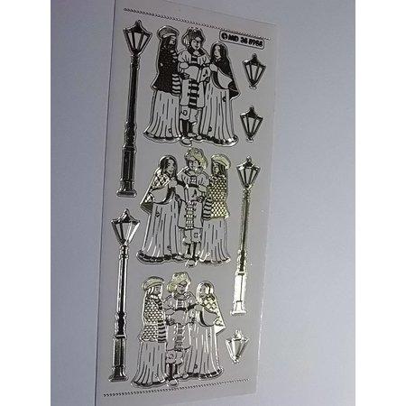 Sticker Adhesivo decorativo en relieve con gran detalle, 10 x 23cm.