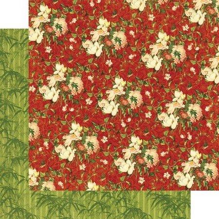 Designer Papier Scrapbooking: 30,5 x 30,5 cm Papier Pretty Bird Song Harmony papel, 30,5 x 30,5 cm.