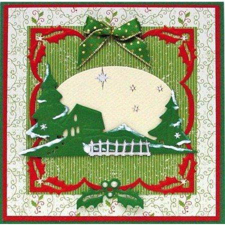 Leane Creatief - Lea'bilities Corte y estampado en relieve plantillas Lea'bilities, fronteras de la Navidad.