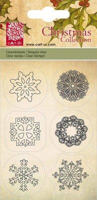 Cart-Us Carrello Us, Transparante timbro, cristalli di ghiaccio, 6 disegni