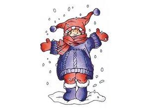 Marianne Design Gennemsigtige frimærker, jeg elsker sne