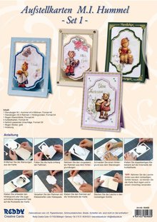 BASTELSETS / CRAFT KITS: Handcraft Kits, Hummel NoteCards, for 4 cards.