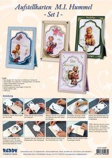 BASTELSETS / CRAFT KITS: Håndværk Kits, Hummel notecards, til 4 kort.