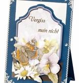 BASTELSETS / CRAFT KITS: Komplettes Bastelset, Aufstellkarten Staf Wesenbeek, Set 1 Blumen mit Schmetterlingen