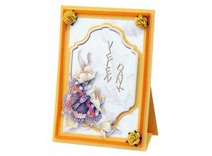 BASTELSETS / CRAFT KITS: Complete Bastelset, NoteCards Staf Wesenbeek, Set 1 flowers with butterflies