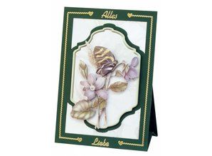 BASTELSETS / CRAFT KITS: Completa Bastelset, NoteCards Staf Wesenbeek, Set 1 fiori con le farfalle