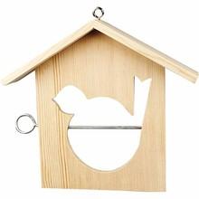 Objekten zum Dekorieren / objects for decorating 1 bird feeder, 19x21 cm, Pine