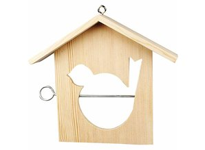 Objekten zum Dekorieren / objects for decorating 1 bird feeder, 19x21 cm, Pine