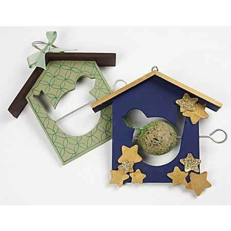 Objekten zum Dekorieren / objects for decorating 1 vogelvoeder, 19x21 cm, Den