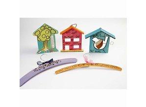 Objekten zum Dekorieren / objects for decorating 1 mangiatoia per uccelli, 19x21 cm, Pino