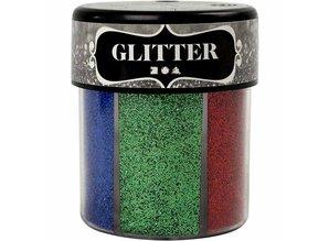 BASTELZUBEHÖR / CRAFT ACCESSORIES Glitter sortiment, 6x13 g