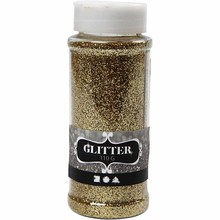 BASTELZUBEHÖR / CRAFT ACCESSORIES Glitter, guld, 110 g