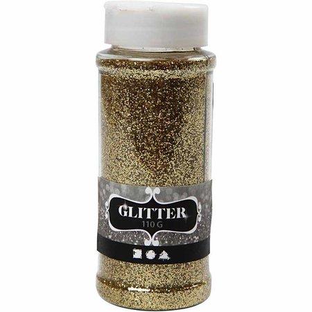BASTELZUBEHÖR / CRAFT ACCESSORIES Glitter, guld, 110 g