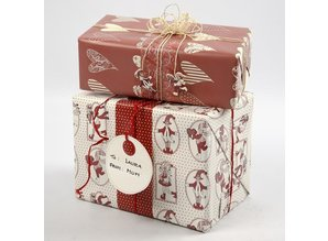 Embellishments / Verzierungen 10 Etiquetas de regalo de cartón fuerte