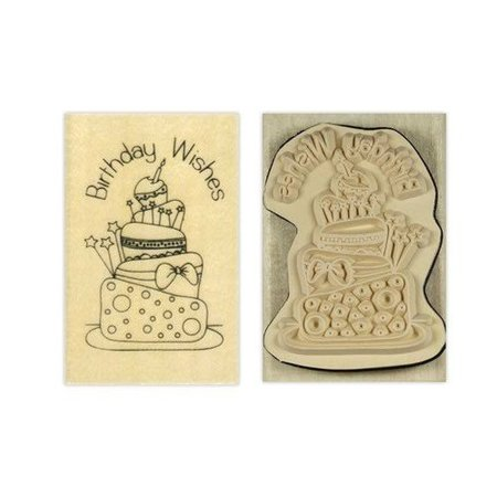 Stempel / Stamp: Holz / Wood Papermania, Anita`s holze Stempel, Birthday wishes